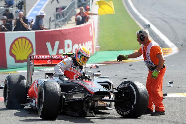Hamilton keskeytti peräti kuusi kertaa kaudella 2012.
