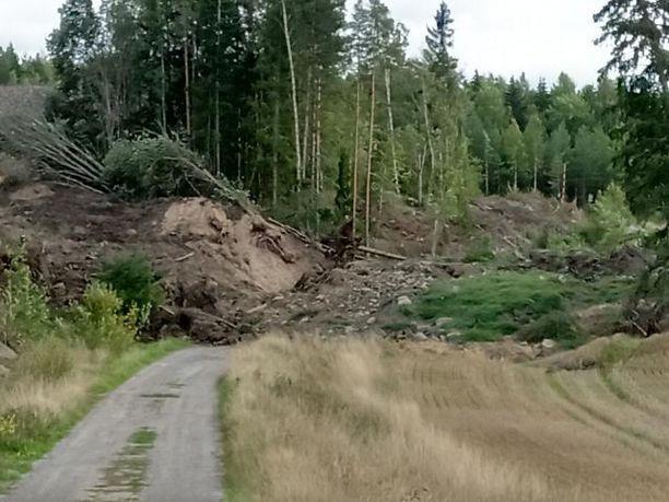 Paimion vyörymäalue on noin 150 metriä pitkä ja 50 metriä leveä.
