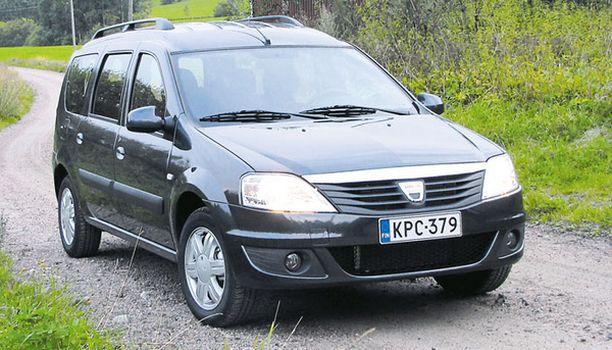 PELTIKULMAA Dacia Logan MCV näyttää ulkoapäin VW Caddyltä tai Renault Kangoolta.