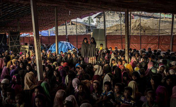 Yli 700 000 rohingya-muslimia pakeni Myanmarin hallituksen vainoa viime vuonna.