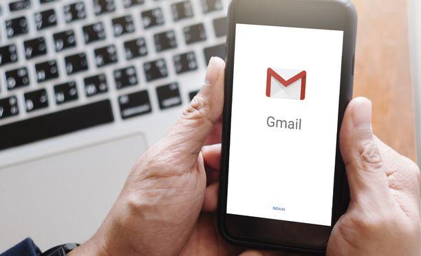 Gmailin näkymää voi muuttaa.