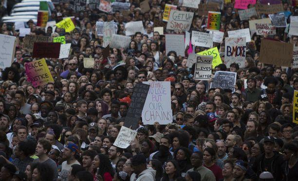 Marylandissa on järjestetty viime vuosina useita poliisiväkivaltaa vastustavia mielenosoituksia. Kuva vuodelta 2015.
