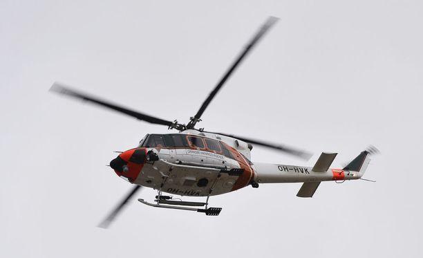 Helikopteri löytyi ilmasta. Kuvan kopteri ei liity tapaukseen.