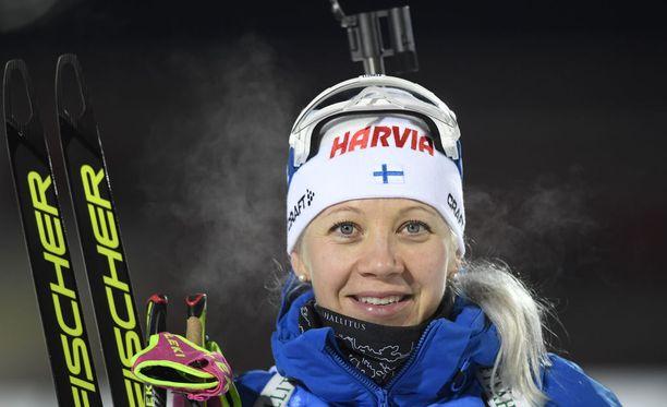 Kaisa Mäkäräinen on tällä kaudella tienannut jo 92 500 euroa palkintorahaa maailmancupissa.