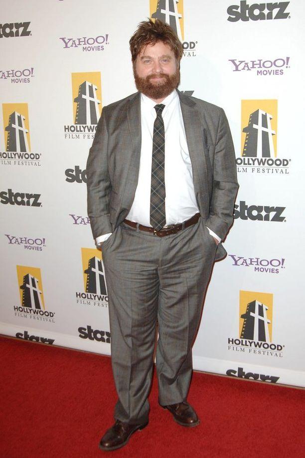 Tältä Zach Galifianakis näytti vuonna 2010.