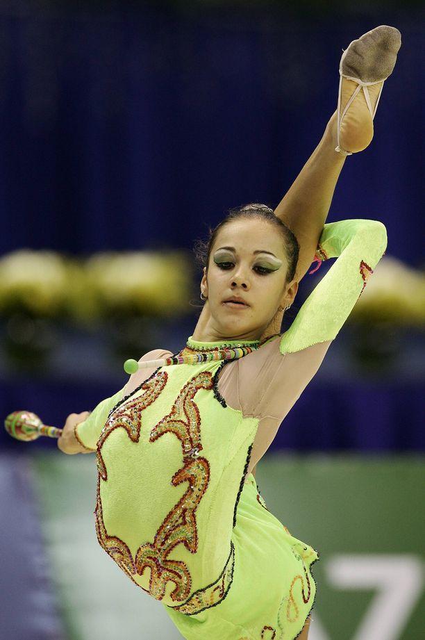 Ana Paula Scheffer edusti Brasiliaa arvokisoissa. Kuva vuodelta 2005.