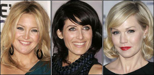 People Choice Awardsin punaisella matolla sädehtivät muun muassa Kate Hudson (vas.), Lisa Edelstein ja Jennie Garth.