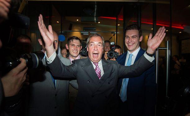 """Britannian itsenäisyyspuolueen johtaja Nigel Farage sanoi, että EU-äänestyspäivä eli kesäkuun 23. päivä on """"Britannian uusi itsenäisyyspäivä""""."""