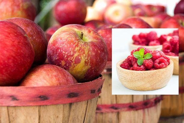 Omenan ja vadelman antioksidantit tehostavat toisiaan.