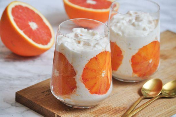 Veriappelsiiniriisi saa makeutta vaniljasokerista.
