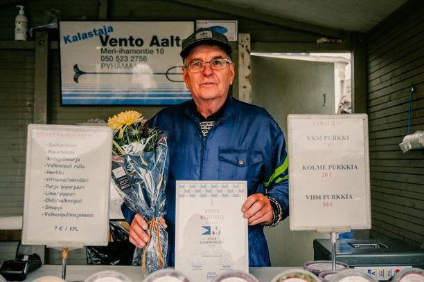 Maustekala-sarjan voittaja Vento Aalto.