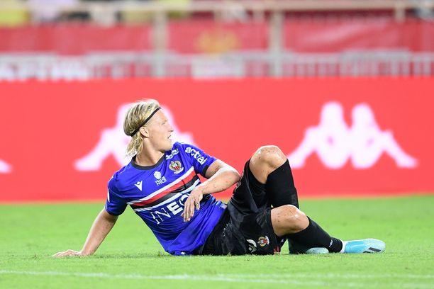 Kasper Dolberg on tehnyt yhden maalin Nizzalle tällä kaudella.