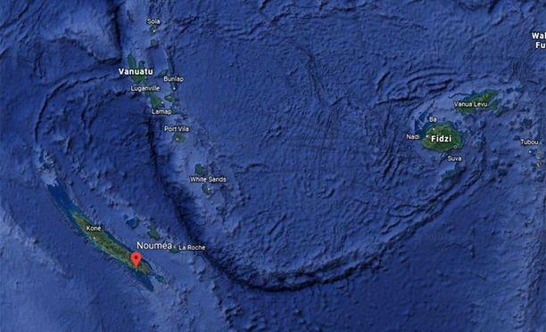 Maanjäristyksen keskus oli noin 300 kilometriä Uuden-Kaledonian pääkaupungista Nouméasta.