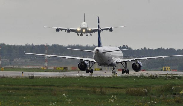Lufthansan Airbus A380 vieraili Suomessa vuonna 2010.