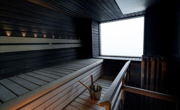 M/S Viking Gracen saunasta on merinäköala.
