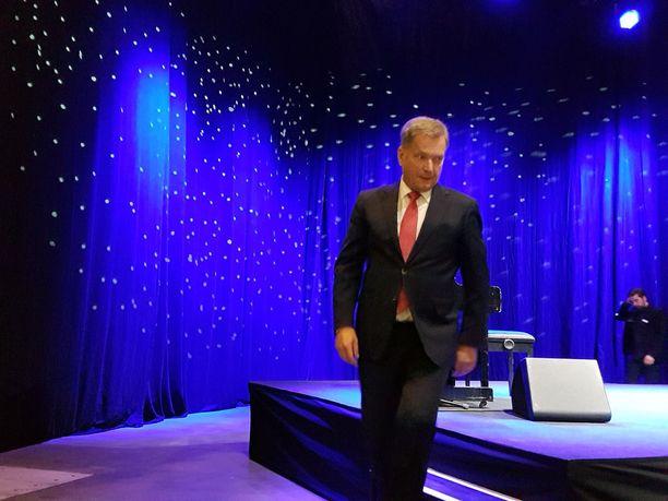 Presidentti Niinistö piti Hurstin joulujuhlassa juhlapuheen.