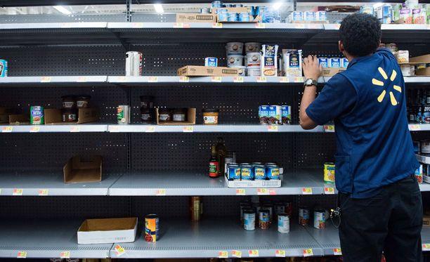 Fort Lauderdalessa Floridassa purkkimuona alkoi loppua Walmartin hyllyistä jo maanantaina.