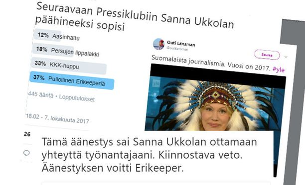 Opettajana työskentelevä Tero Hannula kertoo Sanna Ukkolan ottaneen yhteyttä hänen työnantajaansa tviitin vuoksi.