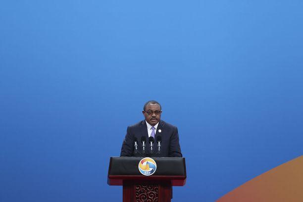 Pääministeri Hailemariam Desalegn on joutunut Etiopiassa suuren arvostelun kohteeksi. Hänestä tuli pääministeri vuonna 2012.