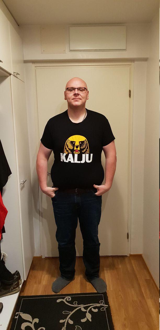 Tätä kuvaa otettaessa Wilén painoi 137 kiloa.