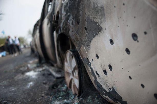 Ampumavälikohtaus tapahtui Slovjanskin kylän lähellä Itä-Ukrainassa.