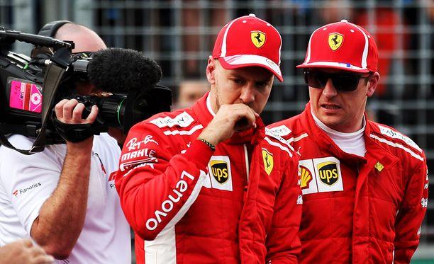 Sebastian Vettel jäi tällä kertaa Kimi Räikkösen taakse.