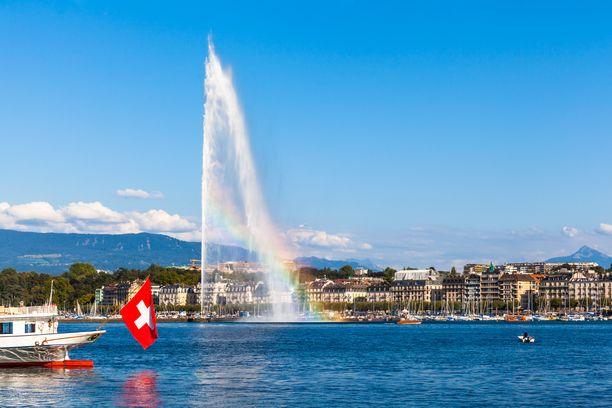 Suomessa asuvan naisen pääomatulot tulivat kahden sveitsiläispankin sijoitustileiltä. Kuvassa Geneven kaupunki.
