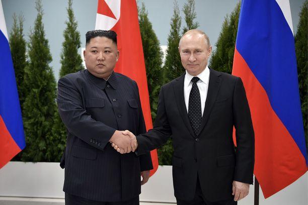 Pohjois-Korean johtajan Kim Jong-unin mukaan tapaaminen Venäjän presidentti Vladimir Putinin kanssa torstaina sujui suopeissa merkeissä.