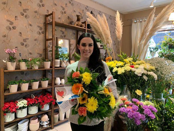 Stina Girls-Järvisellä tuli viime keväänä täyteen neljä vuotta täysipäiväisenä kukkakauppayrittäjänä.