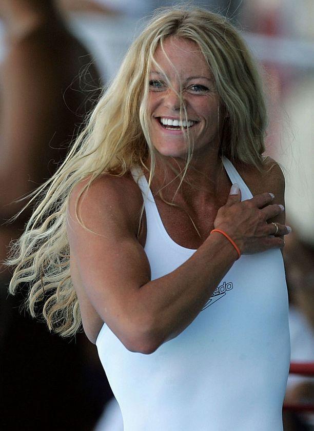 Lukuisia arvokisakultia kahmineen Inge de Bruijnin uimarivartalo oli aktiiviaikana erittäin tiukassa ja lihaksikkaassa kunnossa.