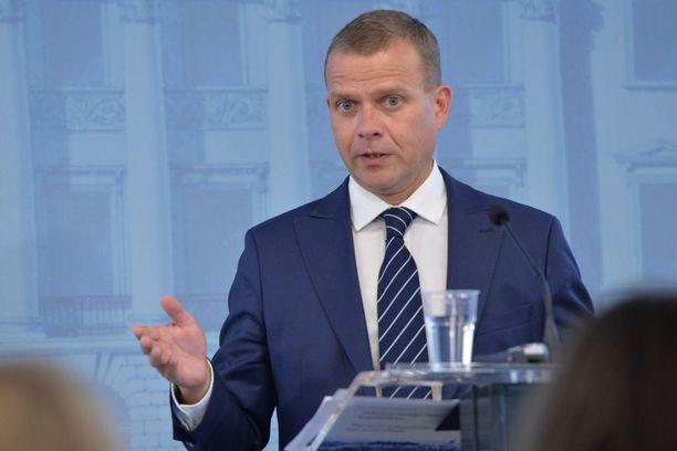 Valtiovarainministeri Petteri Orpo (kok) esitteli VM:n budjettiehdotuksen keskiviikkona iltapäivällä valtioneuvoston linnassa järjestetyssä tiedotustilaisuudessa.