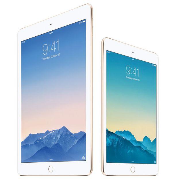 iPad Air 2 (vas.) ja iPad mini 3 ovat Applen uutuuksia.