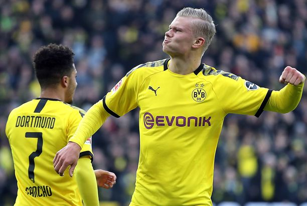 Erling Braut Håland tuuletti maaliaan Dortmundin mahtavan Keltaisen muurin edessä.