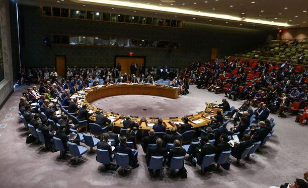 YK:n turvallisuusneuvosto arkistokuvassa.