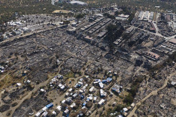 Morian pakolaisleiri Lesbosin saarella tuhoutui tuhopoltossa 8. syyskuuta.