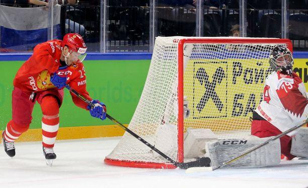 Pavel Datsjuk johti Venäjän rynnistystä.