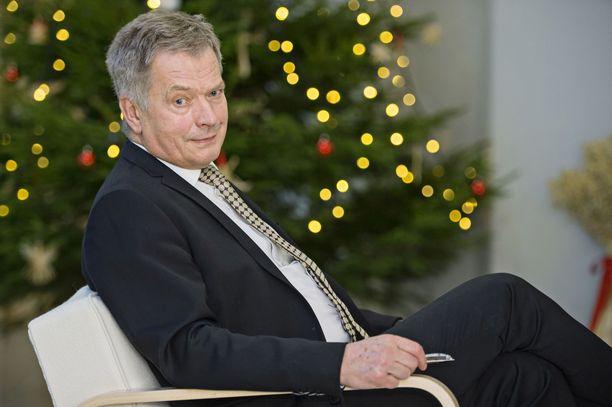 Sauli Niinistö kuvattuna jouluna 2015.