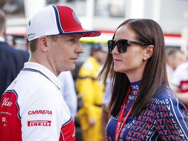 Kimi ja Minttu Räikkönen edustivat aiemmin kuluvalla F1-kaudella Monacossa.