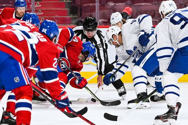 Canadiens ja Maple Leafs pelasivat vastakkain viime yönä. Kuva viime kauden ottelusta.