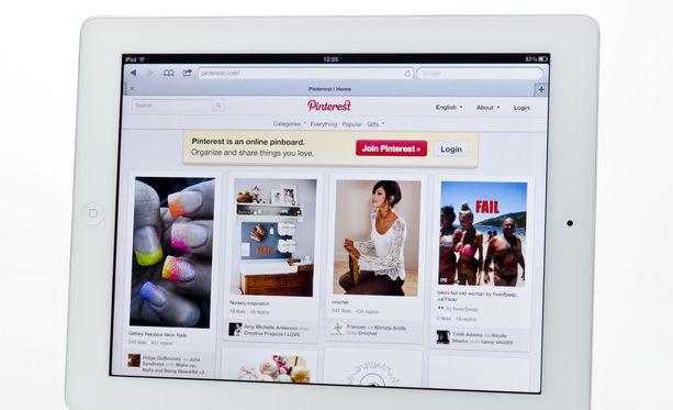 Pinterest ei ole Suomessa erityisen laajasti käytetty some-palvelu.