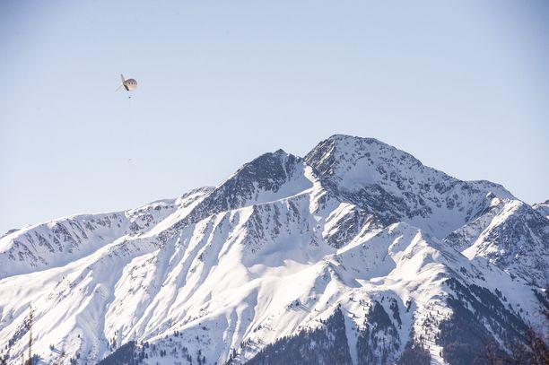 Vuorilla riittää lunta.