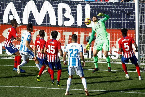 Piskuinen Leganes ryöväsi mahtavan Atletico Madridin.