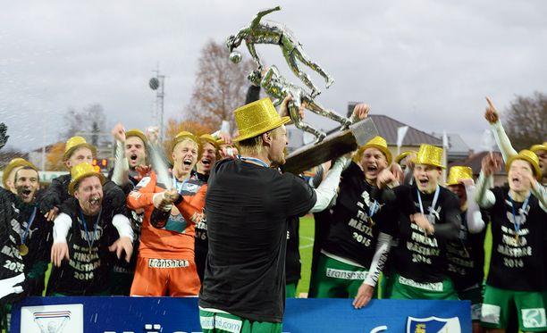 IFK Mariehamn juhli kentällä ja taloudellisesti vuonna 2016.