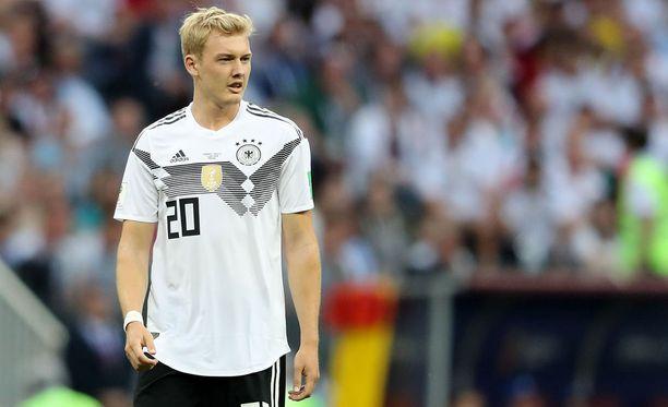 Julian Brandt joutui saksalaislehdistön hampaisiin Meksiko-tappion jälkeen.