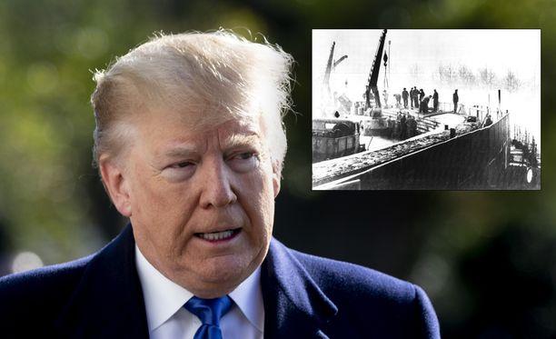 Yhdysvaltain presidentti Donald Trump ei ottanut vastaan hänelle lahjoitettua järkälettä Berliinin muuria.