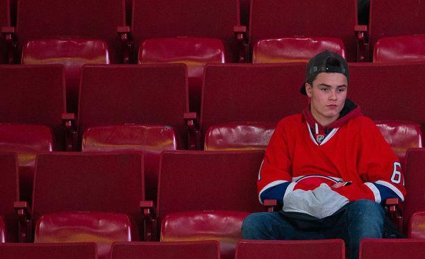 Montrealilaiset ovat intohimoista jääkiekkokansaa. Kuvituskuva.