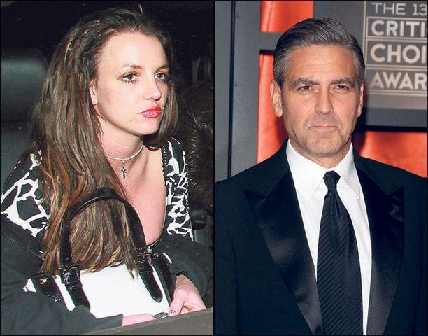 MAISEMANVAIHDOS. George Clooney on etsimässä uutta asuntoa, sillä Britney Spears houkuttelee paparazzit hänen kotinurkilleen.