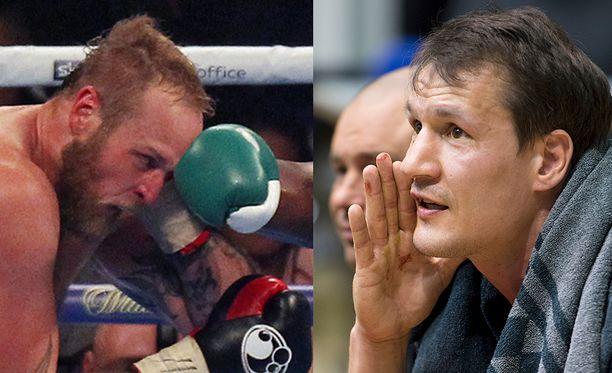 Entisen huippunyrkkeilijän Amin Asikaisen (oikealla) mielestä Robert Heleniuksen pitäisi rukata harjoitteluaan.