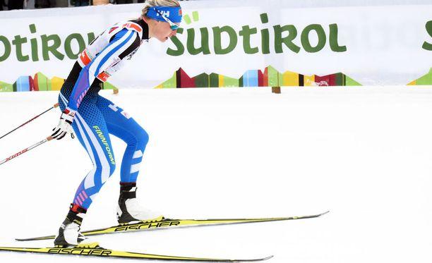 Anne Kyllönen on Tour de Skin kokonaiskilpailussa seitsemäs ennen sunnuntain päätösetappia.