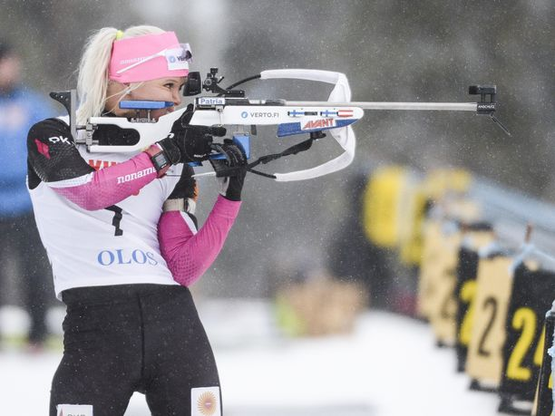 Mari Eder pudotti torstaina seitsemän taulua kymmenestä Oloksen leirikilpailussa Muoniossa.